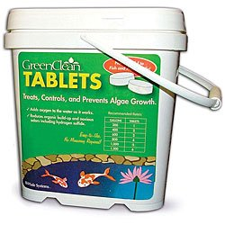 GreenClean Tablets - 16 lbs -  Algae Preventative.  Koi Pond, Fountain, Water Gardens, Water Features. EPA Registered. Safe for Fish, Plants, Pets and Wildlife.