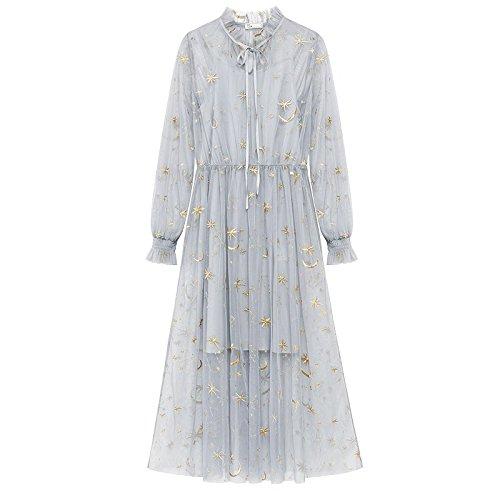 Couche Tenue M Deux Femme lingue de MiGMV Gris d't Gaze Robe Clair Robe Robes 1Awxqv6