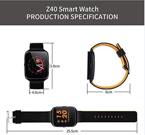 hangang Z40 Bluetooth Smart Watch Tensiómetro Frecuencia ...
