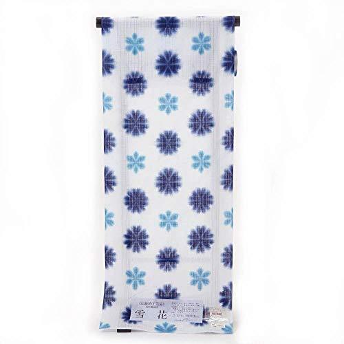 モールス信号外国人誰浴衣 反物 伝統工芸 有松鳴海絞 雪花 知多木綿使用 未仕立て品