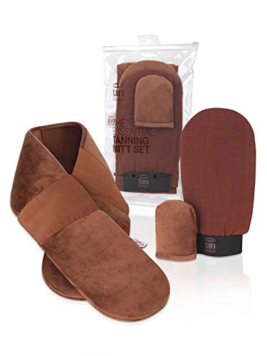 Tan Heaven Tanning Tanning Handschuh-Set mit Handschuhen und Rücken- und Gesichtshandschuhen für schnelles und streifenfreies Bräunen