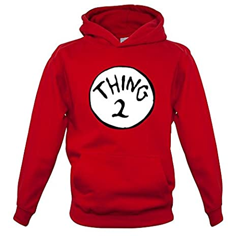 New Way 217B - Hoodie Thing 2 Unisex Pullover Sweatshirt Small Red - Thing Mens Hoodie