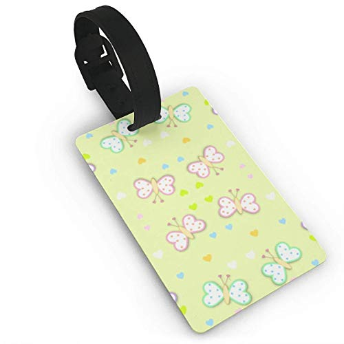 Pejer Unisex Premium Luggage Tags With Hand Strap Baby Butterflies Luggage Tags Label Cruise Instrument Bag Case Tags ()