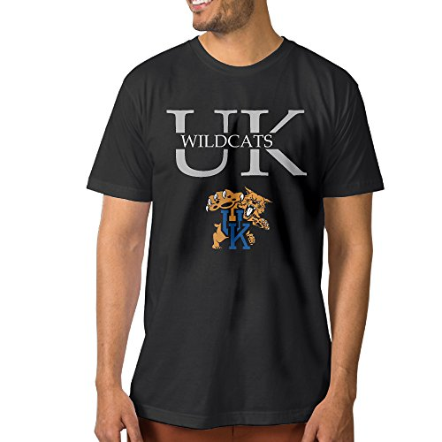PKTWO Men's Kentucky Wildcats UK Summer Tshirts Short Sleeve Black XL