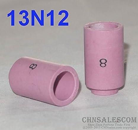 "10 pcs 8#  54N14 Alumina Nozzle Gas Lens Cups for WP-17 WP-18 WP-26 12.5mm 1//2/"""