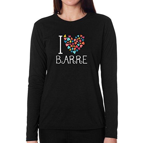 I love Barre colorful hearts Long Sleeve T-Shirt