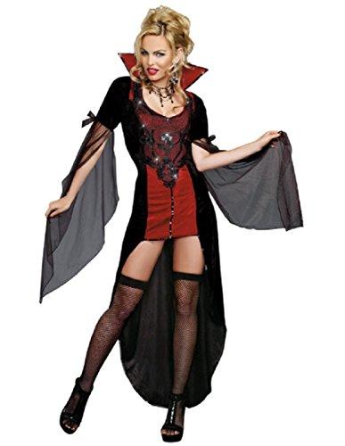 Female Vampire Costumes (Dreamgirl Women's Killing Me Softly, Black, Medium)