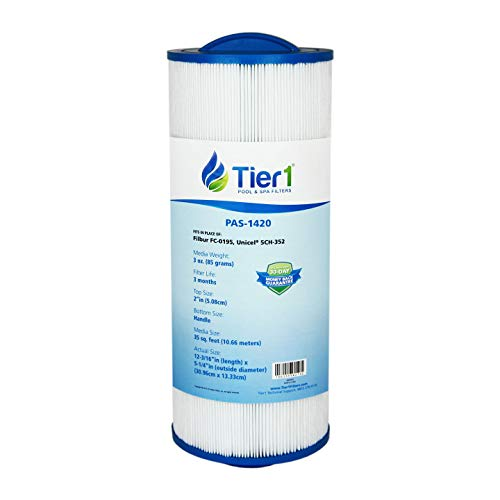 Tier1 Replacement for Marquis Spa Filter PPM35SC, Filbur FC-0195, Unicel 5CH-352 Spa Filter