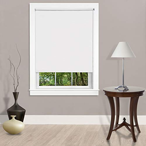 Ben & Jonah PrimeHome Collection Cords Free Tear Down Room Darkening Window Shade 55x72 White
