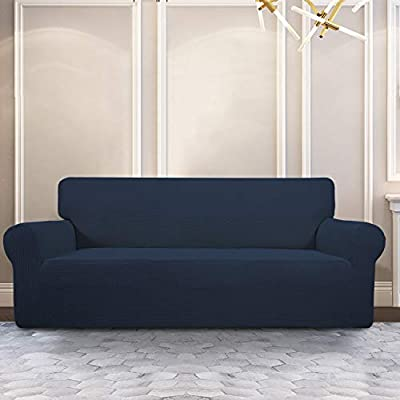 PureFit Stretch Sofa Slipcover – Spandex Jacquard Anti-Slip Soft Couch Sofa Cover, Washable Furniture Protector with Anti-Skid Foam and Elastic Bottom ...