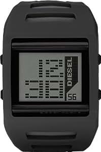 Diesel DZ7225 - Reloj digital de cuarzo unisex, correa de goma color negro (alarma, luz, registro de vueltas, cronómetro)