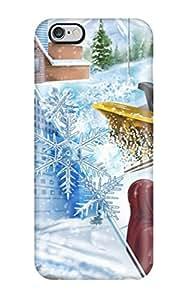 New Winter Holliday Vector Digital Design Fun Kids Jackets Dresses Shoes Vacations Season Coats Fall Flo Nature Winter Tpu Case Cover, Anti-scratch ZippyDoritEduard Phone Case For Iphone 6 Plus