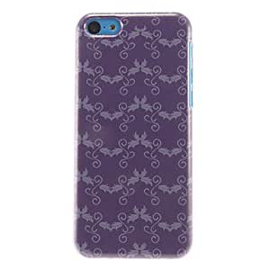 YULIN Relaxed Fish Pattern Purple Hard Case for iPhone 5C