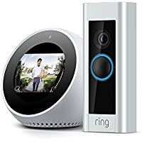 Ring Pro Wi-Fi Enabled Full HD 1080p Video Doorbell + Echo Spot (White)