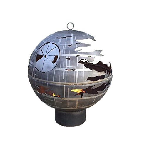 Outdoor Death Star Fire Pit Replica From Starwars Made Of