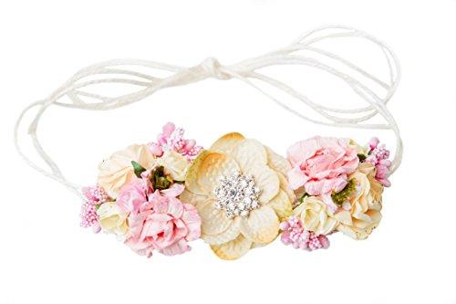 DIY Petite Floral Crown Kit - Make Your Own Flower Crown Headband Elegant Formal Photo Prop - Vintage (Floral Crown Diy)