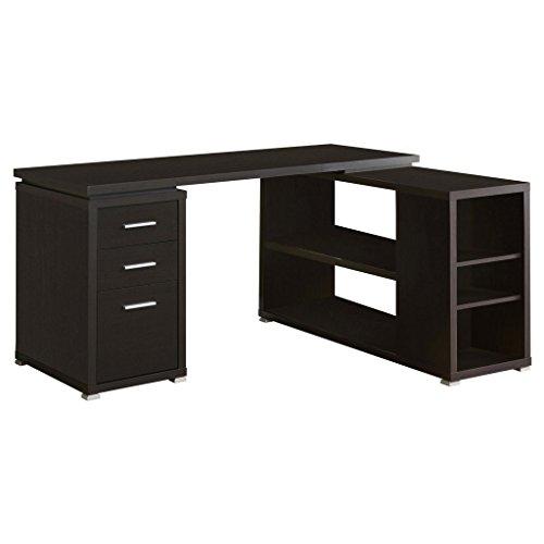 Monarch Cappuccino Wood Solid (Monarch Specialties Hollow-Core Left or Right Facing Corner Desk, Cappuccino)