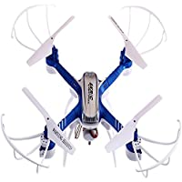 Owill SKRIC SKD20W WiFi FPV 2MP Camera 2.4GHz 4 Channel 6 Axis Gyro Quadcopter 3D Rollover Real Time Transfer Helicopter (Blue)