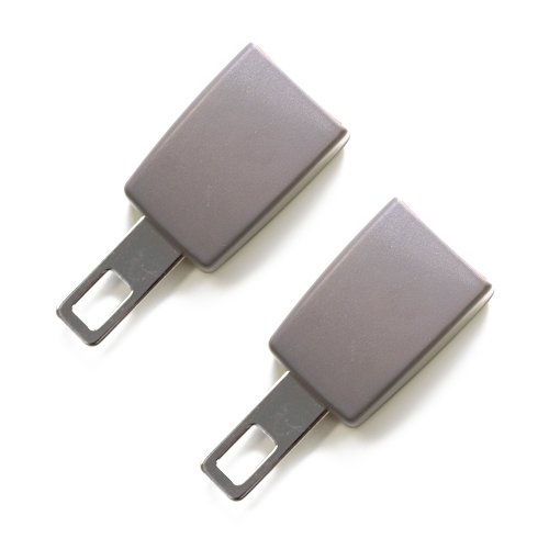 2-Pack Mini Seat Belt Extender - Type A Gray - Adds 3 inches (Porsche Seat Belt)