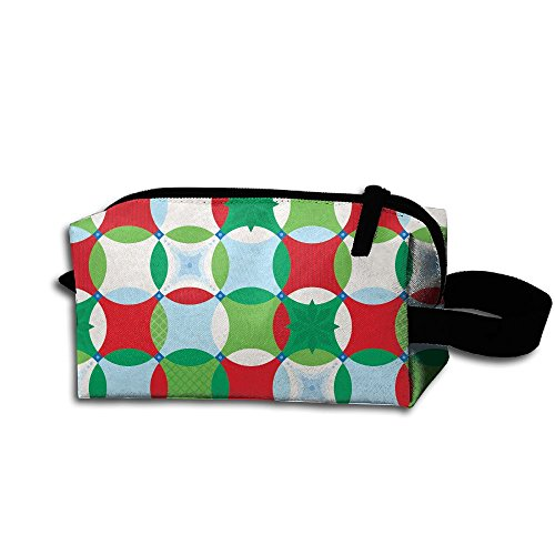 Makeup Cosmetic Bag Coloured Circle Pattern Zip Travel Portable Storage Pouch For Mens Womens