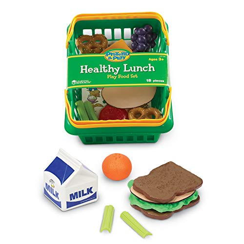 Learning Resources Healthy Lunch Basket, Toddler Play Food, 17 Pieces, Ages 3+ (The Patio Learning)