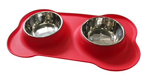 Water and Food Feeder For Dog and Cat (Red) - 7
