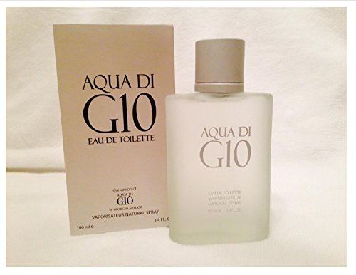 AQUA DI G-10 our Impression of Aqua Di Gio for Men by Urban Collection. 3.4 Oz, 100 Ml Eau De Toilette Natural Spray.