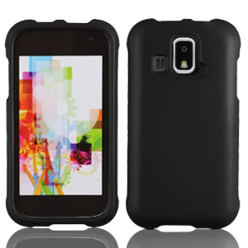LF 4 Item Bundle - Designer Case Cover, Lf Stylus Pen, Screen Protector & Wiper for (US Cellular) Kyocera Hydro XTRM C6721 (Black)