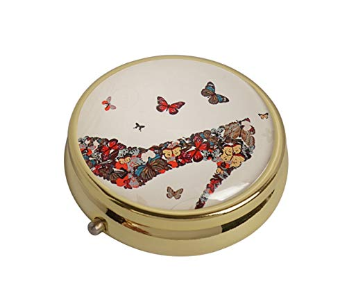 XingBoo Butterfly High Heel Custom New Hot Round Medicine Tablet Pocket Travel Gold Pill Case Vitamin Glass Decorative Box