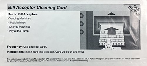 Waffletechnology Acceptor Cleaning Cards Miracle product image