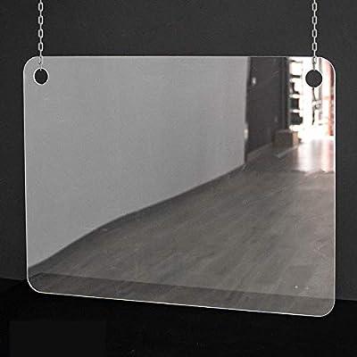 Mampara de protección | Metacrilato Transparente 2mm | Mampara Colgante Transparente (70 cm ancho x 50 cm alto): Amazon.es: Oficina y papelería