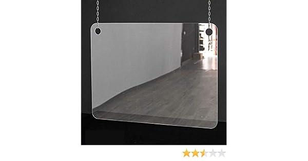 Mampara de protección | Metacrilato Transparente 2mm | Mampara Colgante Transparente (80 cm ancho x 60 cm alto): Amazon.es: Oficina y papelería