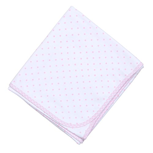 Magnolia Baby Baby Girl Gingham Dots Essentials Blanket Pink One Size