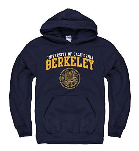 Berkeley Sweatshirt - Shop College Wear UC Berkeley Double Arch Men's Hoodie Sweatshirt-Navy