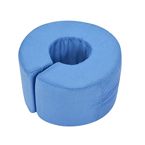 Healifty Foot Elevator Support Pillow Sponge Leg Hand Rest Cushion Ankle Pillow for Rest Sleep Pain Relief (Blue)