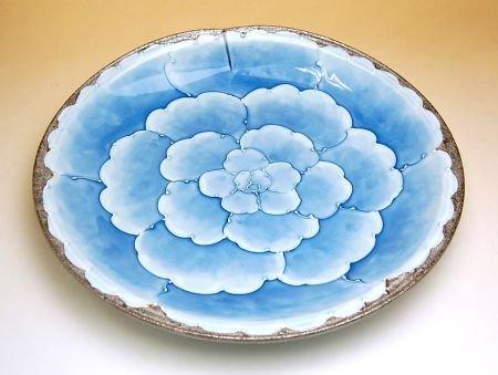 【有田焼】プラチナ牡丹 尺皿 192064 【サイズ】径30cm×高さ5.1cm B00VYLYFNC