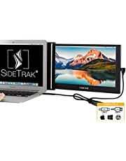 "SideTrak Portable USB Monitor 12.5"" Screen - Attaches to Your Laptop for Easy Travel - Efficient USB Power - Compatible with Mac, PC, Chromebook 13""-17"" Laptops 