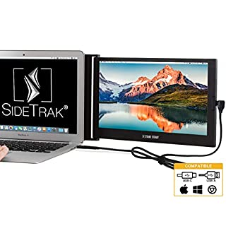 """SideTrak Portable Monitor for Laptop 12.5"""" FHD 1080P IPS Attachable Second Laptop Screen   Efficient USB Power   Compatible with Mac, PC, Chrome 13""""-17"""" Laptops   Patent Pending"""