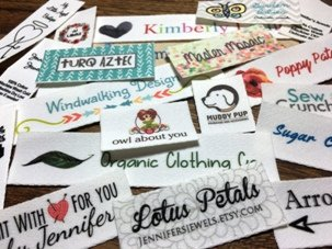 30 Organic Cotton Natural Color Twill Fabric Printed Sewing Labels OR Iron On for Professional Products OR Just Labeling Clothing