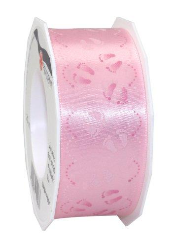 (Präsent 1-Piece 40 mm - 20 m Baby Feet Double Face Satin Decor Ribbon, Light Pink)