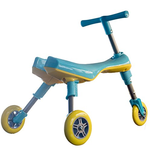 Mr Bigz Foldable Indoor/Outdoor Toddlers Glide Tricycle - No Assembly Required (Blue) by Mr Bigz (Image #1)