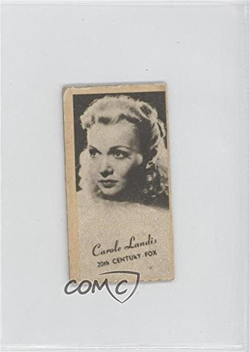 Carole Landis Comc Reviewed Good To Vg Ex  Trading Card  1947 Peerless Engrav O Tints Cloudy Portraits Of Movie Stars Studio Name In Print    Base   Cala