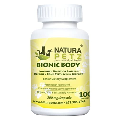 Natura Petz Bionic Body Immunity, Digestion and Allergy Defense Plus Bone, Teeth and Skin Support Supplement for Senior Pets 85%OFF