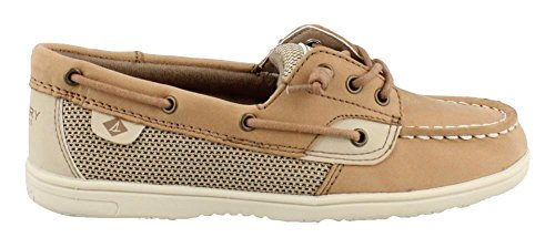 SPERRY Girl's, Shoresider Jr Boat Shoes Linen 4 M