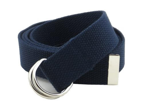 Ladies D-ring Belt (Thin Web Belt Double D-Ring Buckle 1.25