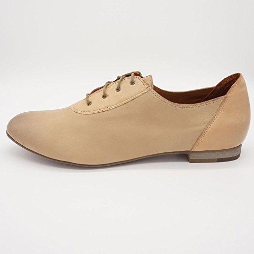 Everybody - Zapatos de cordones de Piel Lisa para mujer beige beige