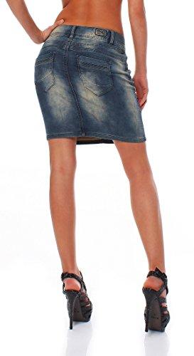 d o Minijupe Jupe Denim Mandy Jeans En M Femmes Tricoté Pour Bleu A5qpddx