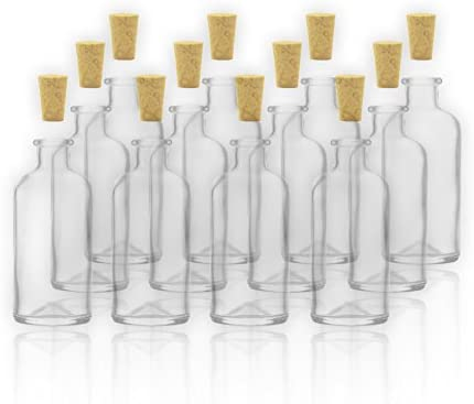 12 Apothekerflaschen/botellas de vidrio con Cork 100 ml/10 cl en ...
