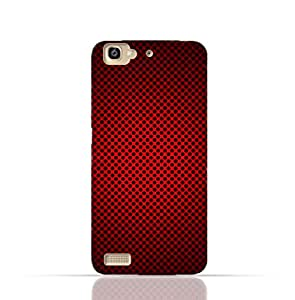 Huawei GR3 TPU Silicone Case With Abstract Red With Black Dots Pattern Design.