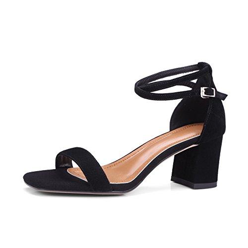 BalaMasa ASL05076, Bout Ouvert Femme Noir